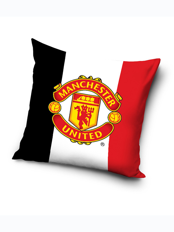 manchester united logo filled cushion