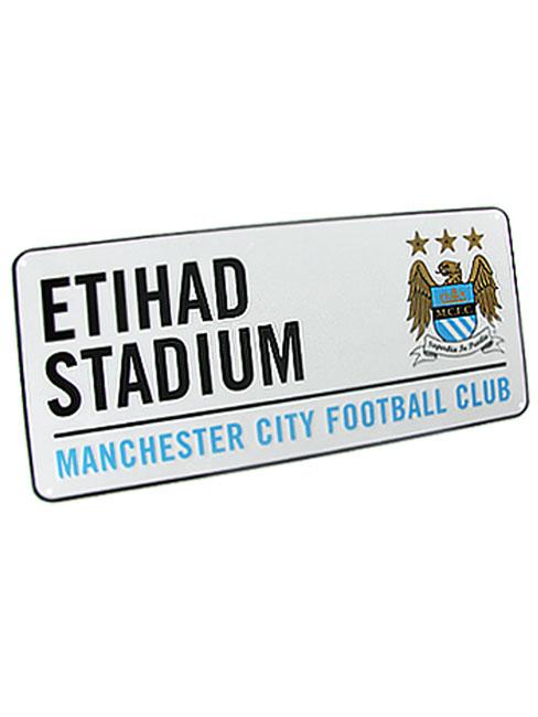 Manchester City FC Etihad Stadium Street Sign