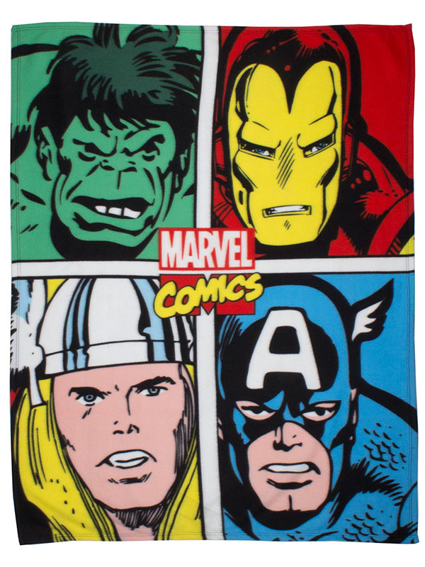 Marvel Comics Strike Fleece Blanket