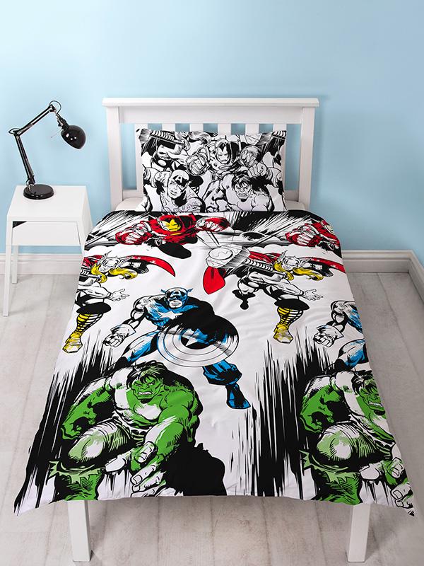 Marvel Comics Crop Single Duvet Cover and Pillowcase Set