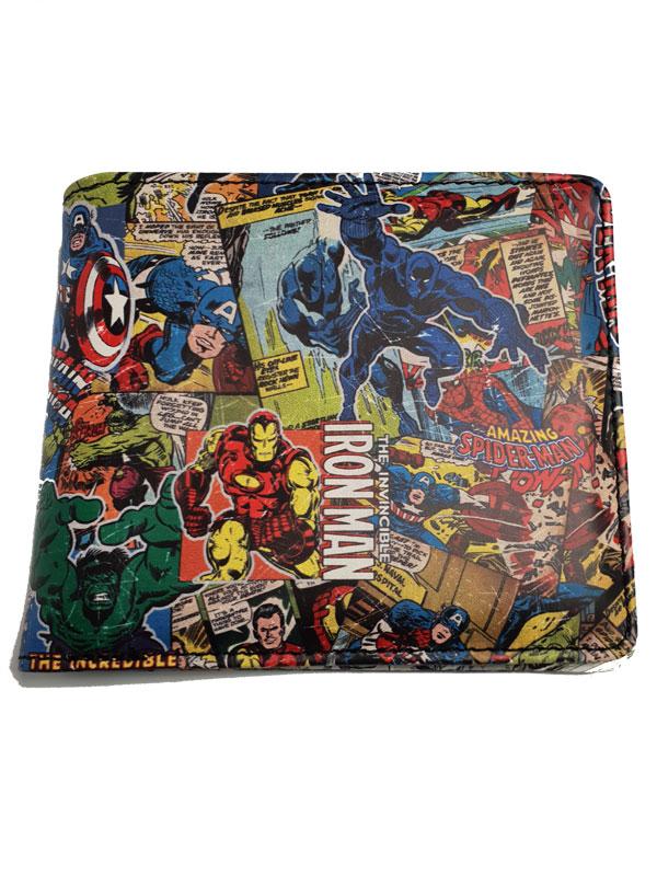 Marvel Comics Comic Strip Print Wallet
