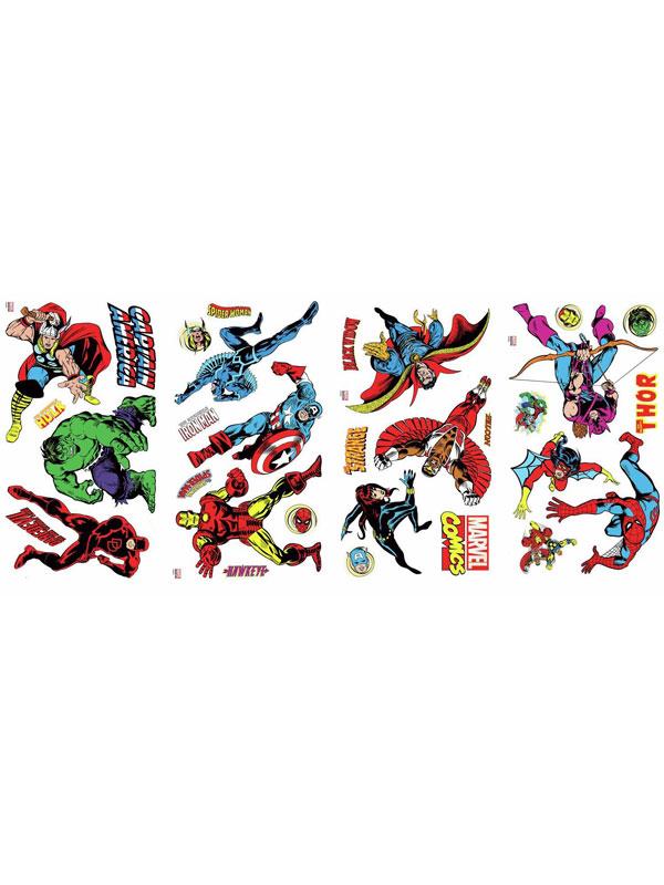 Marvel Comics Room Decor Wall Sticker Kit