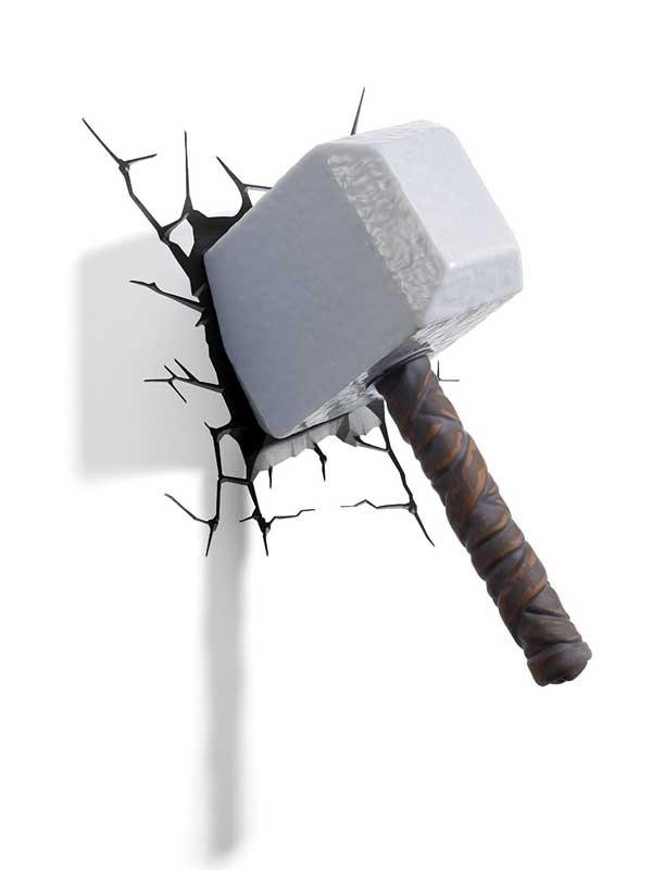 Marvel Thor Hammer 3D LED Wall Light