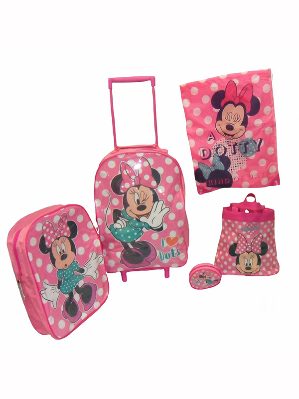 Minnie Mouse 5 Piece Luggage Set