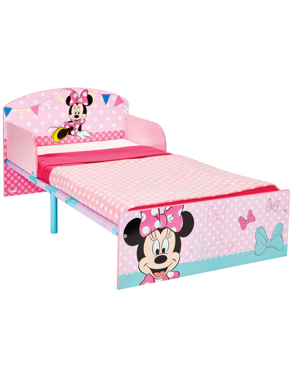 Minnie Mouse Toddler Bed with Fully Sprung Mattress - Pink