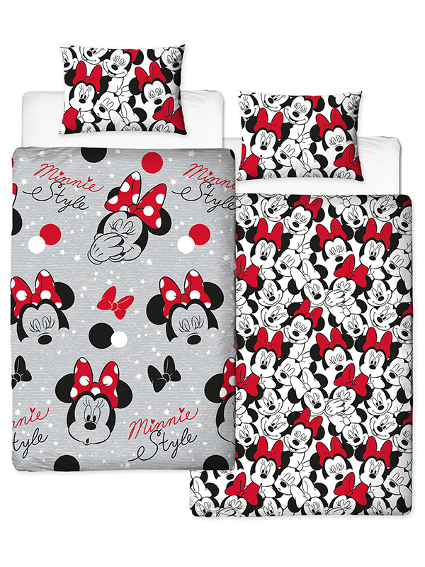 Minnie Mouse Cute Single Duvet Cover Set - Rotary Design
