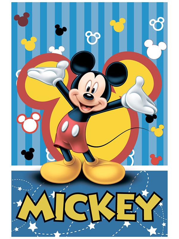 Mickey Mouse Hello Fleece Blanket