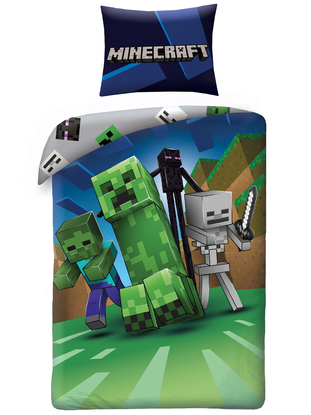 Minecraft Enderman Single Cotton Duvet Cover Set - European Size