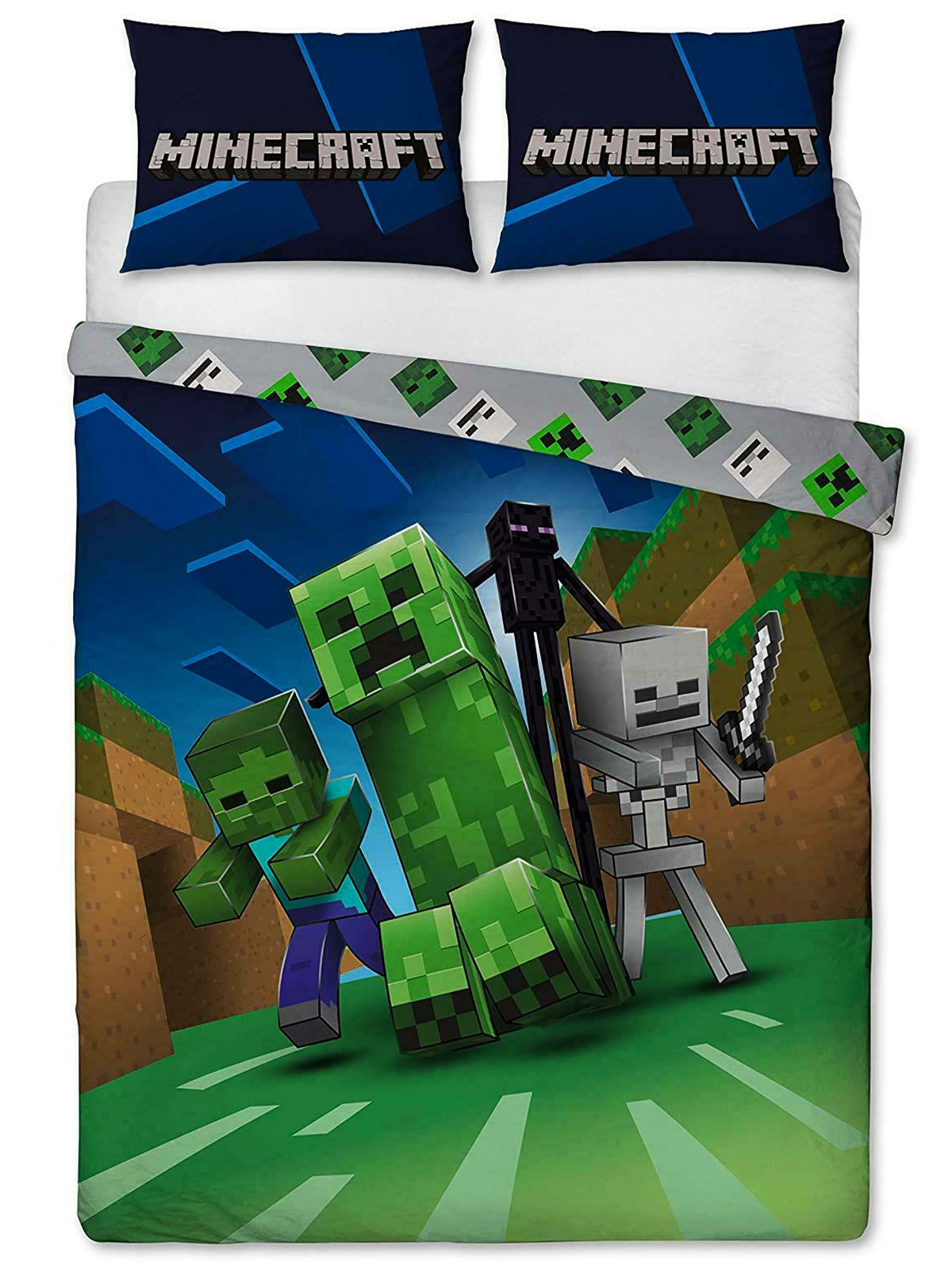Minecraft Creeps Double Duvet Cover and Pillowcase Set