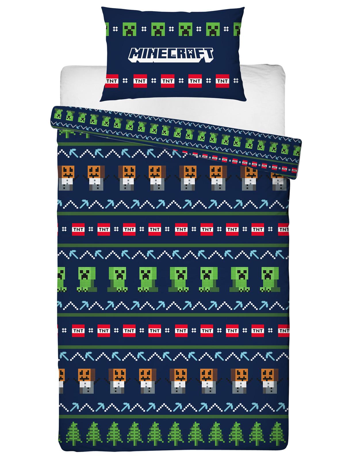 Minecraft Alpine Single Duvet Cover and Pillowcase Set