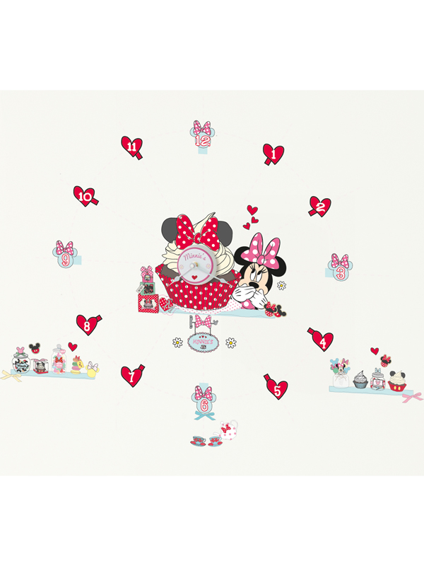 Minnie Mouse Tick Tock Clock and Wall Stickers