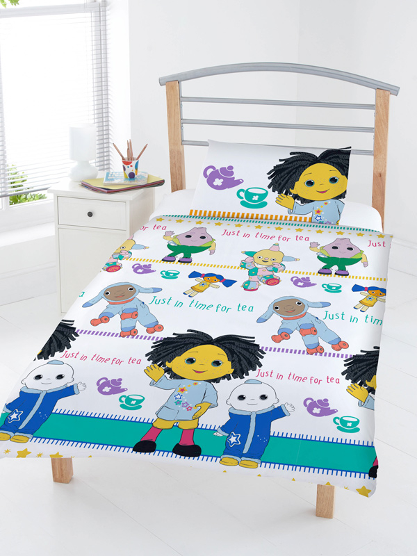 Moon And Me Tea Time 4 in 1 Junior Bedding Bundle Set (Duvet, Pillow