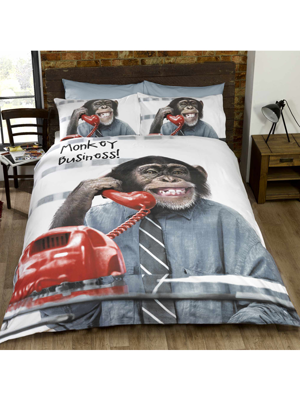 monkey business double duvet cover and pillowcase set