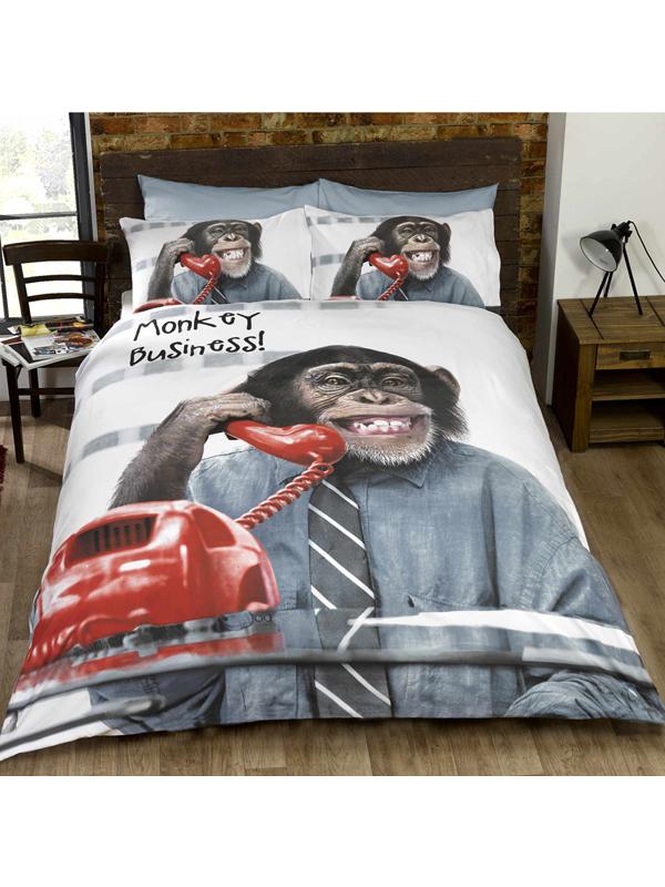 monkey business single duvet cover and pillowcase set