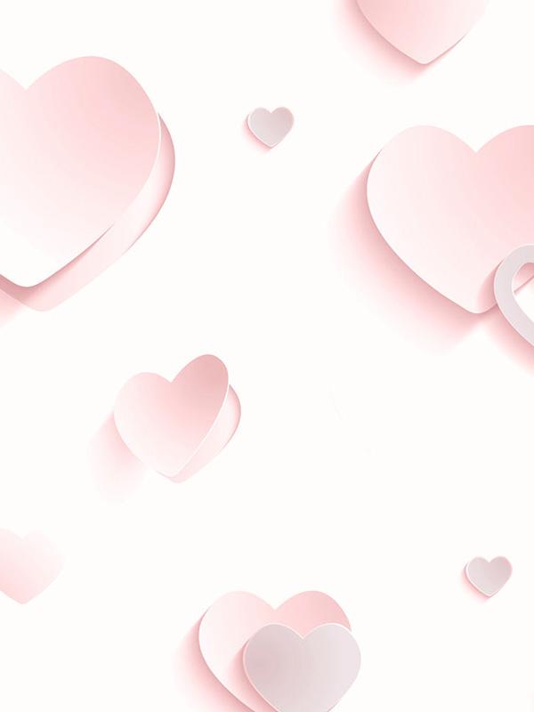 3D Hearts Glitter Wallpaper Pink J92603 Muriva