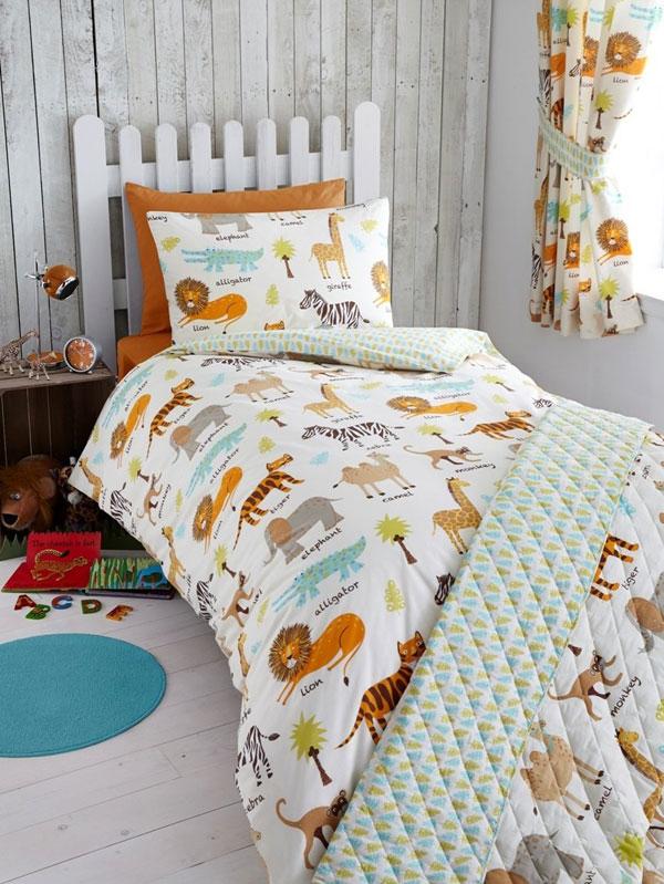 my safari animals junior toddler duvet cover and pillowcase set