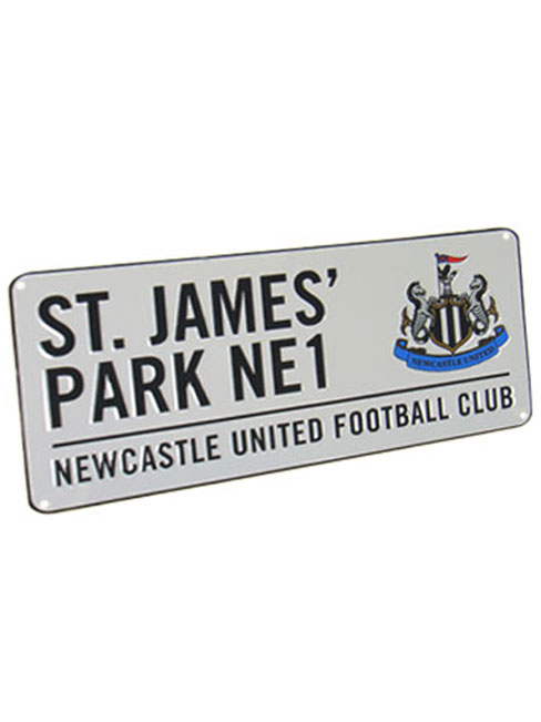 Newcastle United FC St James Park Street Sign