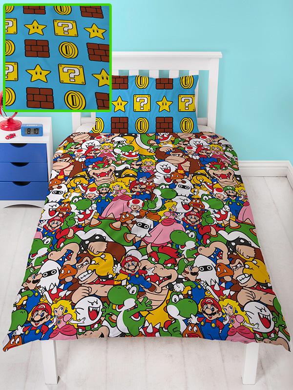 Nintendo Super Mario Gang Single Duvet Cover Set