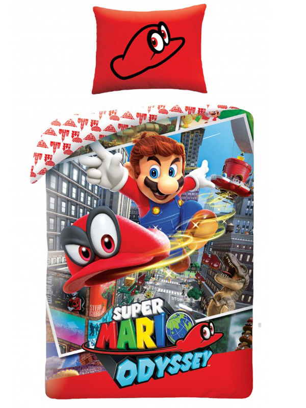 Nintendo Super Mario Cappy Single Cotton Duvet Cover Set