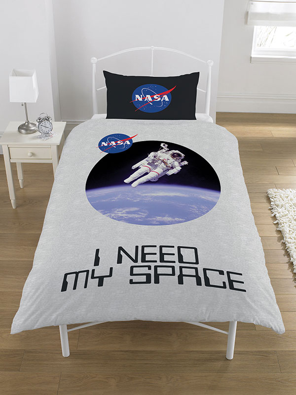 NASA I Need My Space Single Duvet Cover and Pillowcase Set