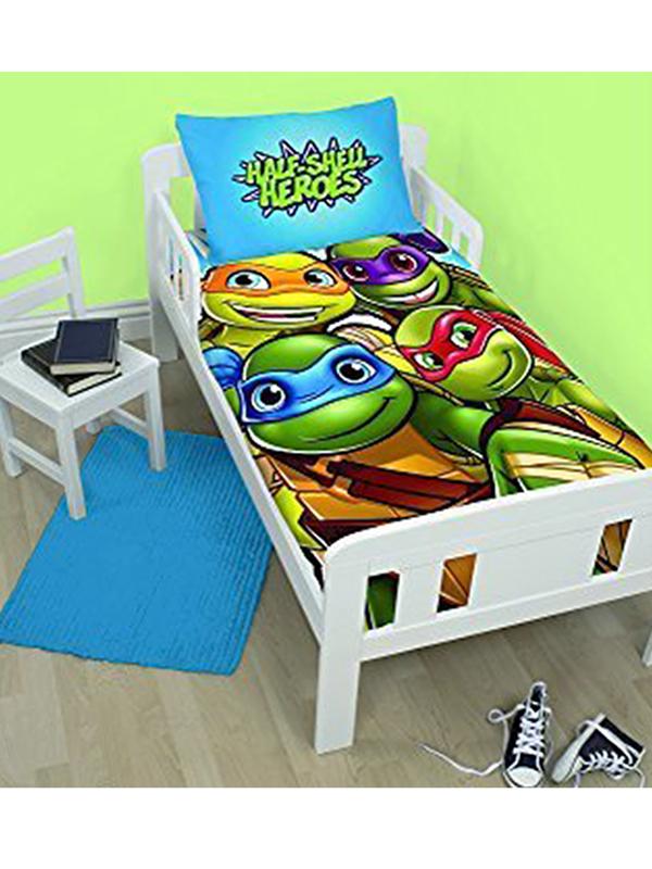 teenage mutant ninja turtles heroes junior toddler duvet cover &