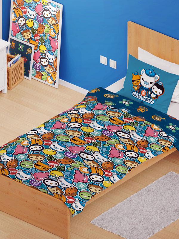Octonauts Crew 4 in 1 Junior Bedding Bundle Set - Duvet, Pillow