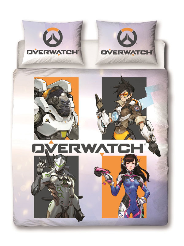 Overwatch Grid Double Duvet Cover Set