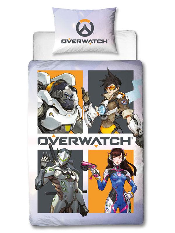Overwatch Grid Single Duvet Cover Set
