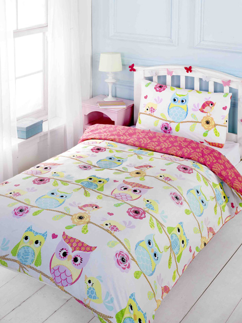 owl and friends junior toddler duvet cover and pillowcase set