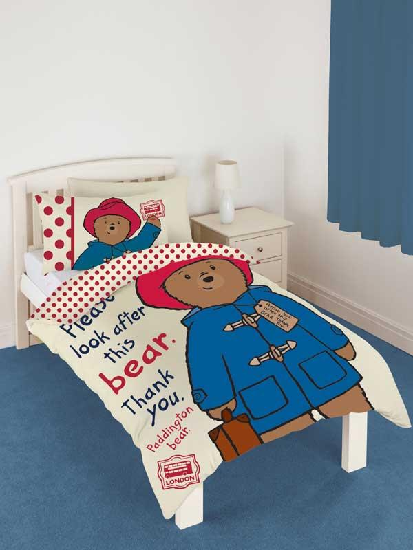 Paddington Bear Single Duvet Cover and Pillowcase Set