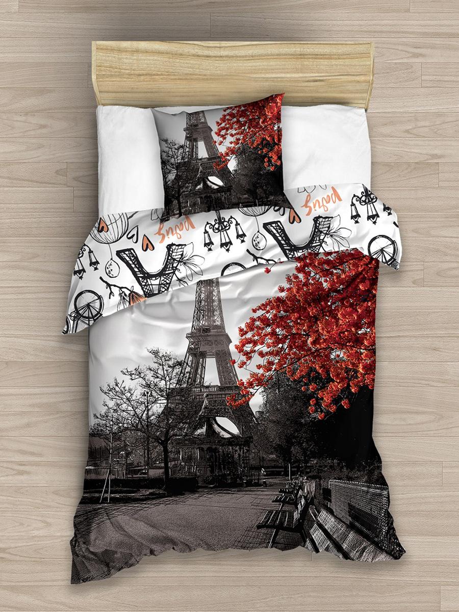 Paris Single Cotton Duvet Cover and Pillowcase Set