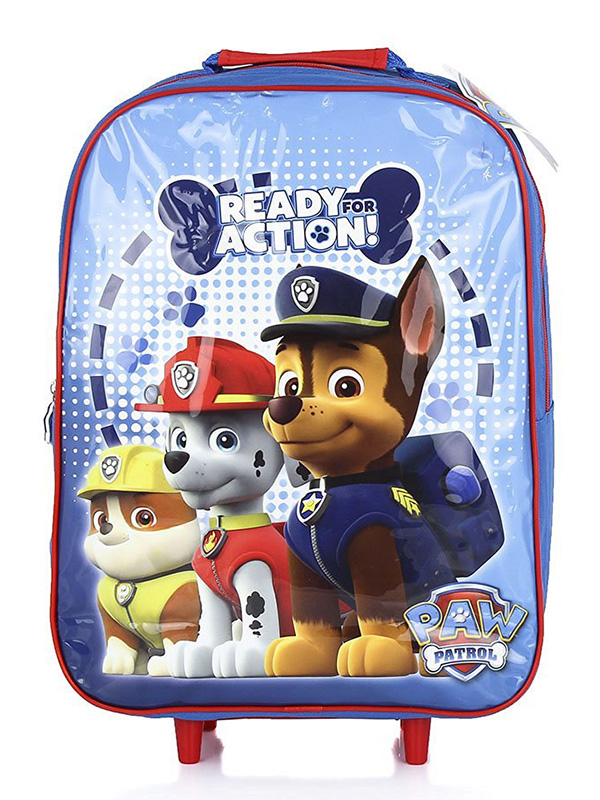 Paw Patrol Action Wheeled Trolley Bag