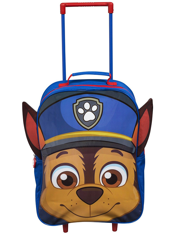 Paw Patrol Chase Wheeled Trolley Bag with Ears