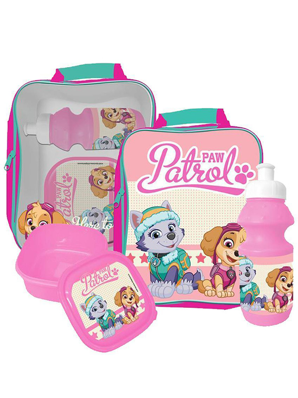 Paw Patrol 3 Piece Lunch Bag Set - Pink