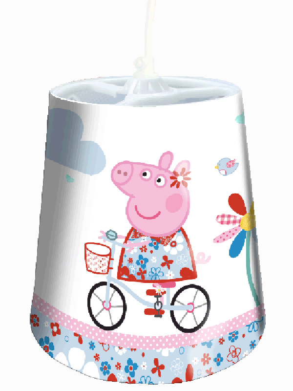 Peppa Pig Bicycle Tapered Ceiling Light Shade