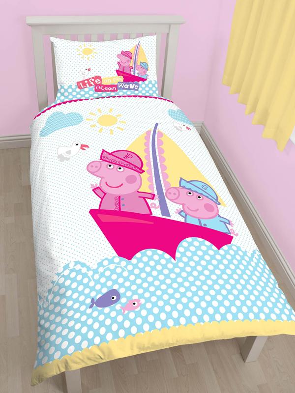 Peppa Pig Nautical Single Duvet Cover and Pillowcase Set