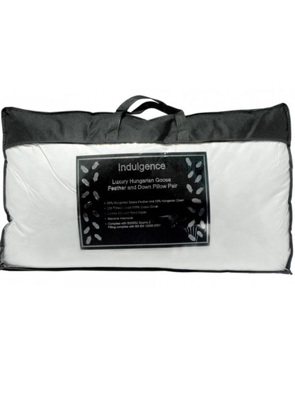 Indulgence Hungarian Goose Feather and Down Pillow Pair