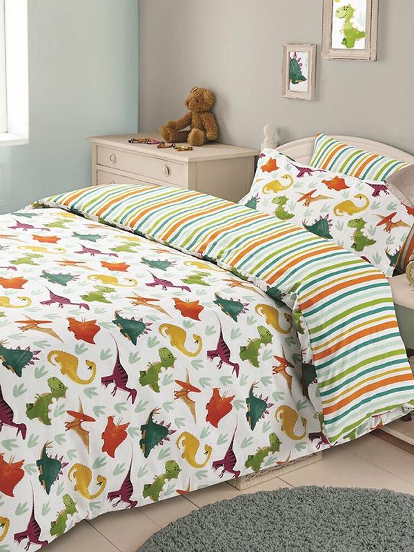 Dinosaur Double Duvet Cover and Pillowcase Set