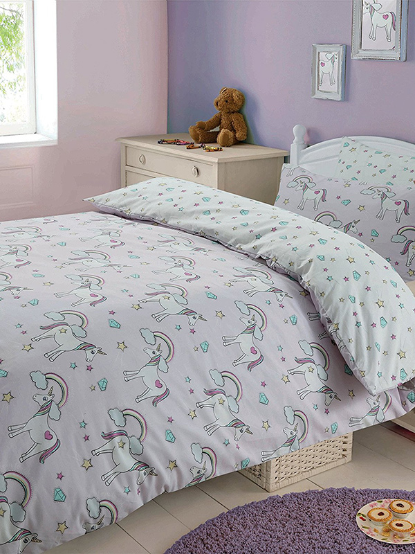 Magic Unicorns Double Duvet Cover and Pillowcase Set