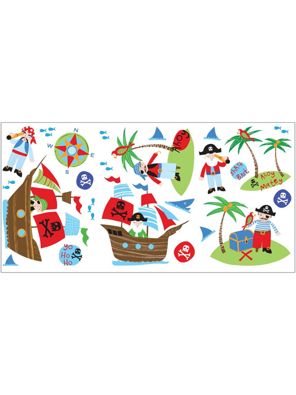 pirates wall stickers  24 pieces