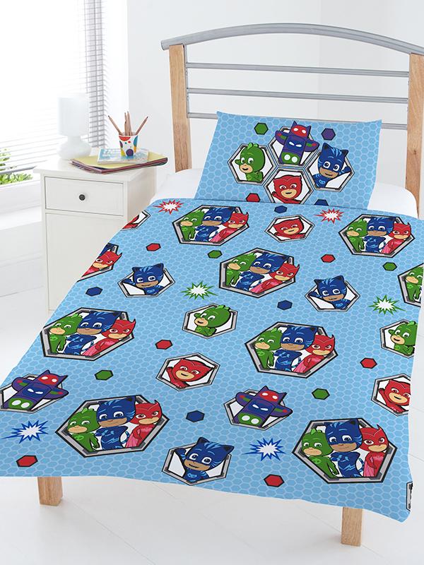 PJ Masks Badges 4 in 1 Junior Bedding Bundle Set (Duvet, Pillow and