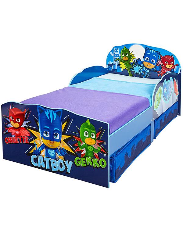PJ Masks Toddler Bed with Storage plus Foam Mattress