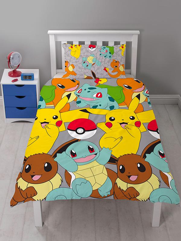 Pokémon Catch Single Rotary Duvet Cover and Pillowcase Set