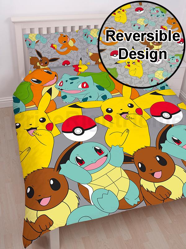 Pokémon Catch Double Duvet Cover and Pillowcase Set