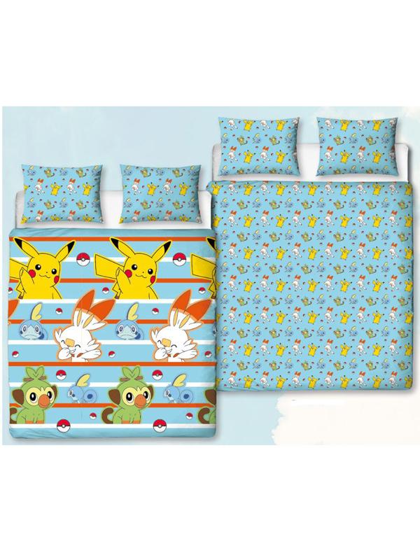 Pokémon Jump Double Duvet Cover and Pillowcase Set