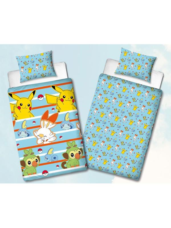 Pokémon Jump Single Duvet Cover Set - Rotary Design