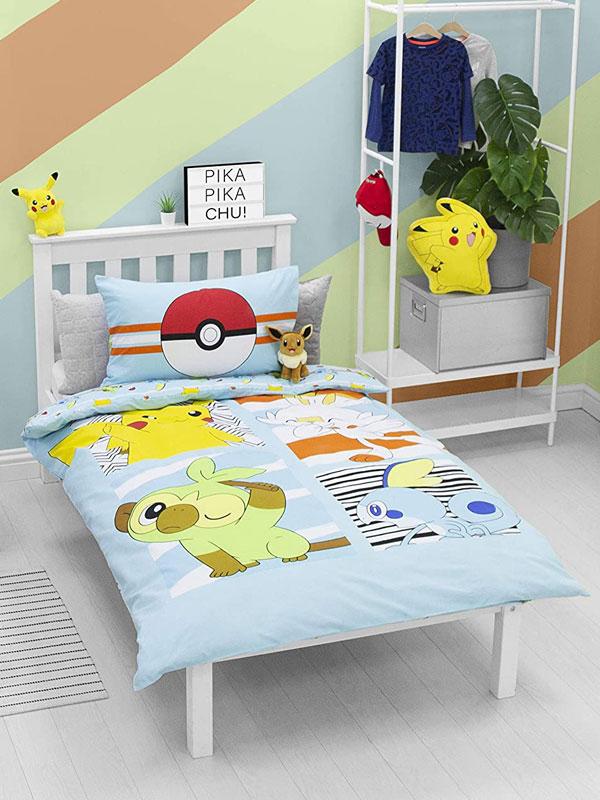 Pokémon Jump Single Duvet Cover and Pillowcase Set