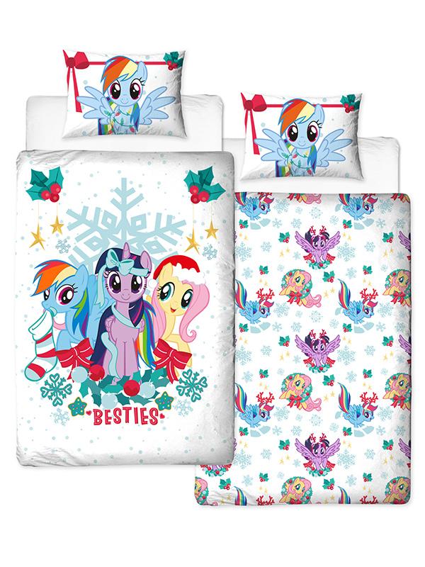 My Little Pony Christmas Holly Single Duvet Cover Set