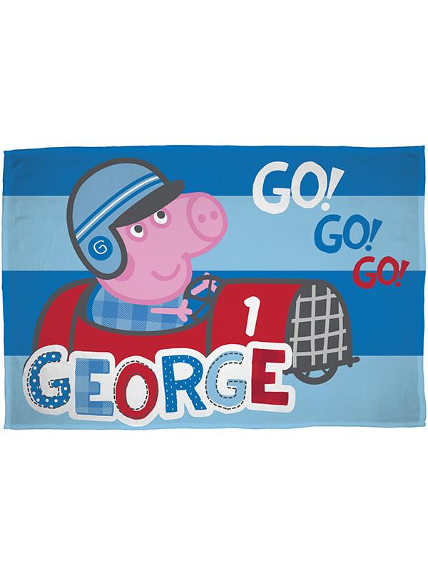 Peppa Pig George Speed Fleece Blanket