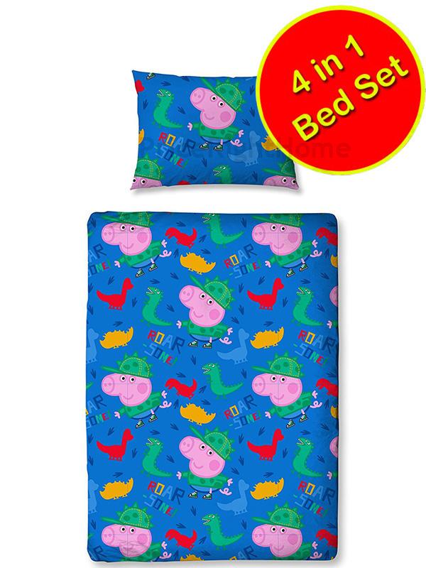 peppa pig george roarsome 4 in 1 junior bedding bundle set